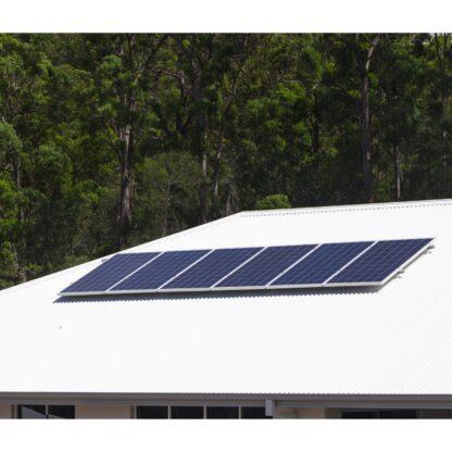solar panels on aluminium roof for shop